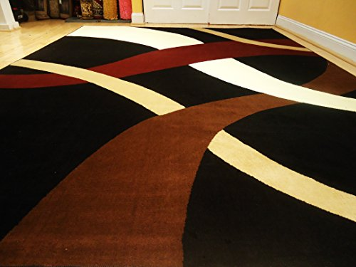 New Modern Black 811 Rug Black Wavy 810 Carpet