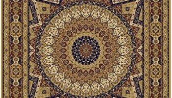 Silk Persian Qum Design Area Rug 8x12 Beige 5x8 Ivory Carpet Hallway Runner 2x8