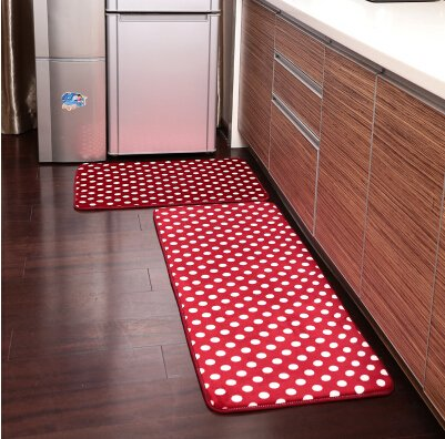Kitchen Rug Runner Rubberized Non Slip Washable various measures drawing bubbles