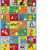 Onestopshop's Children Area Rug Carpet Mat in 5ftx7ft Abc Animal Educational (5'x7')