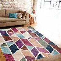 "Modern Geometric Design Multi Color Soft Indoor Area Rug 7'10"" x 10'2"""