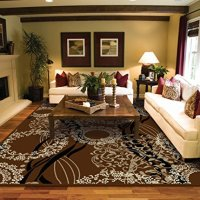 Luxtury Large 8x11 Rugs For Living Room Brown Beige Black Cream 8x10 Modern Rugs Contemporary Rugs Dining Room