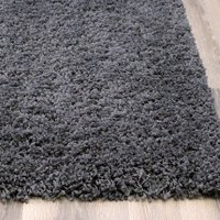 Charcoal Gray Shag Rug, 5-Feet x 8-Feet Soft & Thick Textured Stain Resistant Pile