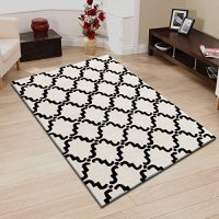 Superior Moroccan Lattice 5' x 8' Area Rug-Ivory/Chocolate