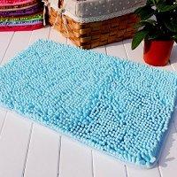 "Hughapy® Lake Blue Non Slip Microfiber Carpet / Doormat / Floor mat / Bedroom / Kitchen Shaggy Area Rug Carpet (23.6""x 15.7"")"