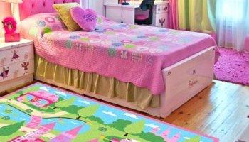 MeMoreCool Colorful Giraffe Cartoon Area Rugs Anti-slip Kids Bedroom ...