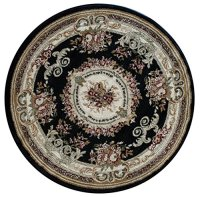 Traditional classic design Round Area Rug (4 Feet x 4 Feet ...