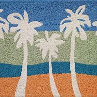 Paradise Palms Swaying in Sunset 21 X 33 Inch Tropical Area Accent Jellybean Rug