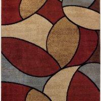 """Multicolor Oval Tiles Contemporary 5'3"""" x 6'11"""" Area Rug Maxy Home Pasha Collection PAS4579"""