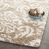 """Safavieh Florida Shag Collection SG460-1311 Beige and Cream Area Rug, 5 feet 3 inches by 7 feet 6 inches (5'3"""" x 7'6"""")"""