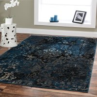 Large Premium Soft Luxury Rugs For Living Rooms 811 Navy ...