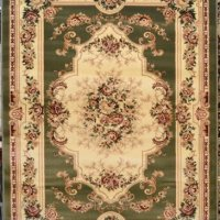 Green Beige Floral 8x10 (7'10x10'2) Area Rug Oriental Carpet Large New 662
