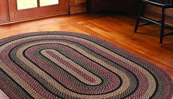 ihf home decor area accent floor carpet oval braided rug 27″ x 48