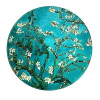 LEEVAN Modern Non-Slip Backing Machine Washable Round Area Rug Living Room Bedroom Study Super Soft Carpet Floor Mat Home Decor 3-Feet Diameter - Apricot Flowers
