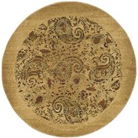 Safavieh Lyndhurst Collection LNH224A Traditional Paisley Beige and Multi Round Area Rug (4' Diameter)