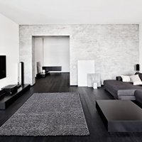 """Ottomanson Soft Cozy Color Solid Shag Area Rug Contemporary Living and Bedroom Soft Shag Area Rug, Grey, 7'10"""" L x 9'10"""" W"""
