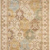 "Nourison Modesto (MDS04) Beige Rectangle Area Rug, 5-Feet 3-Inches by 7-Feet 3-Inches (5'3"" x 7'3"")"