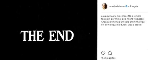 Post Viviane Araújo (Reprodução/Instagram)