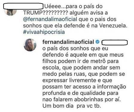 Comentário de Fernanda Lima (Reprodução/Extra)