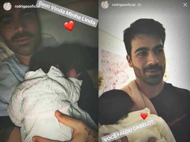 Rodrigão com a filha/Instagram