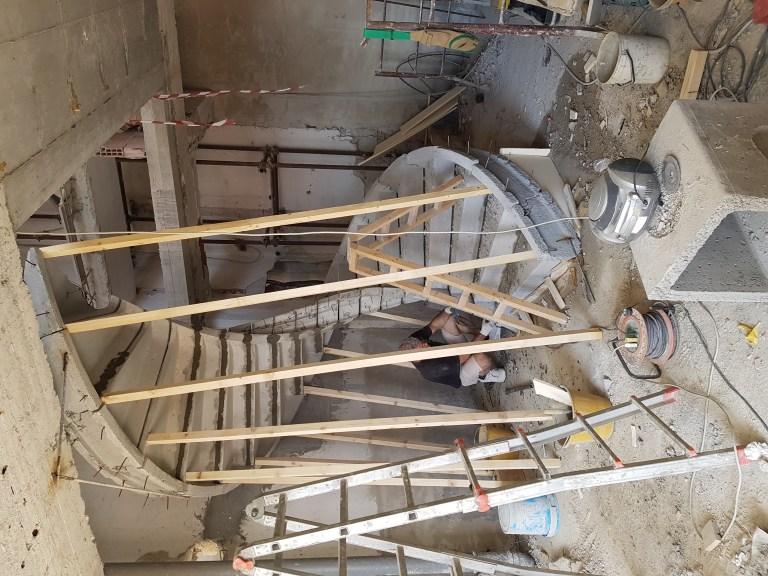 Lavori di realizzazione scala in cemento armato