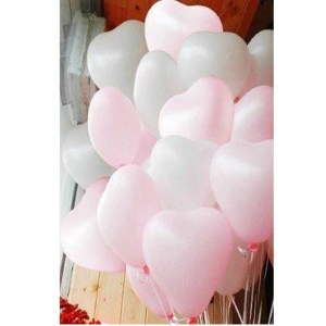 Heart Shape Pink & White Baloons 499