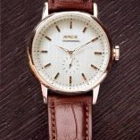 Leather pur Brown Strip Watch 499