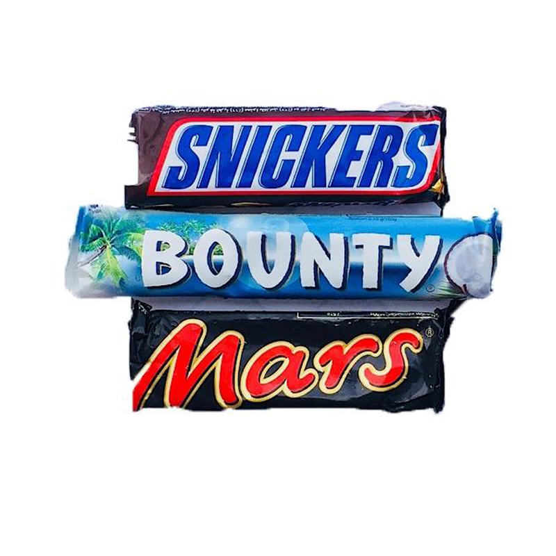 Pack of 03 Chocolates Snickers 50gm , Mars 51gm , Bounty 57gm