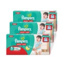 Pampers Pack of 03 Baby Dry Diapers Pants Size 5