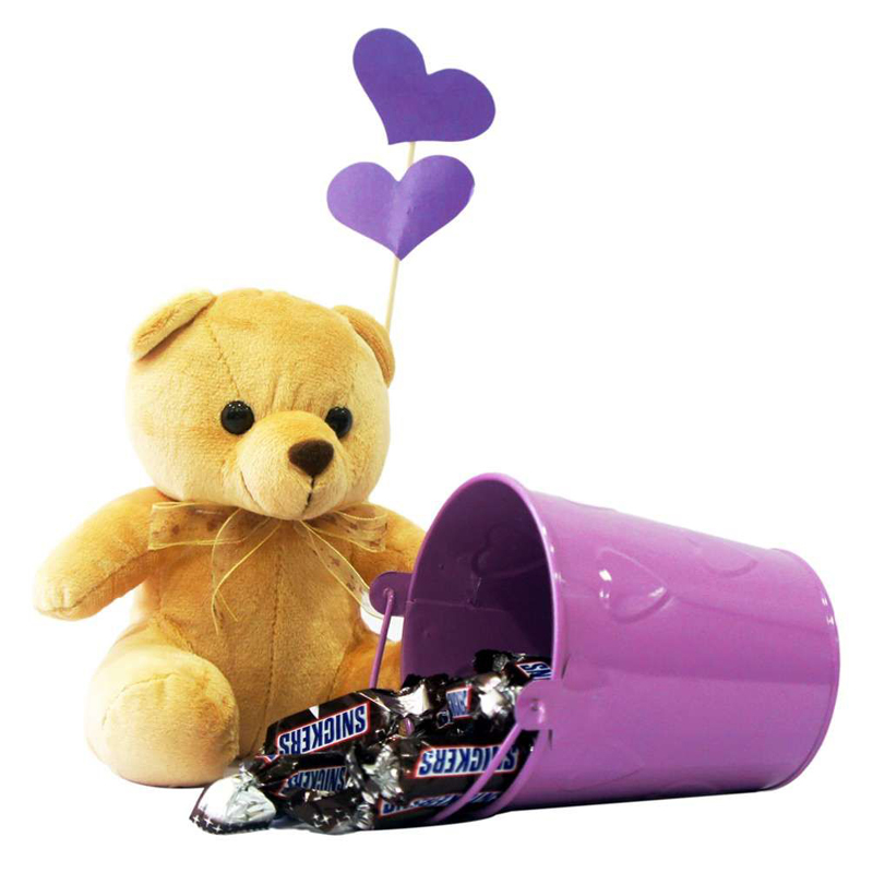 Teddy Bear with Snickers Pack