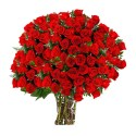 Red Rosses Big Bouquet | Fresh Flowers