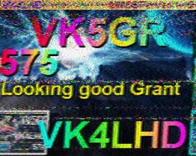 VK4LHD on 14230kHz SSTV