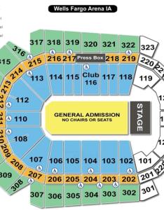 Wells fargo arena seating chart concert also des moines iowa rh arenaiowa