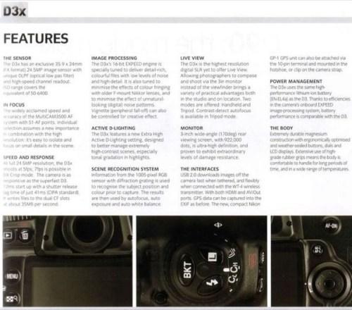 Detalii despre Nikon D3x D-SLR