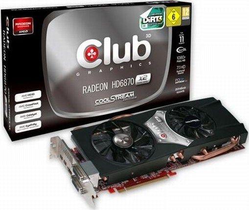 HD 6870 X2 si de la Club3D