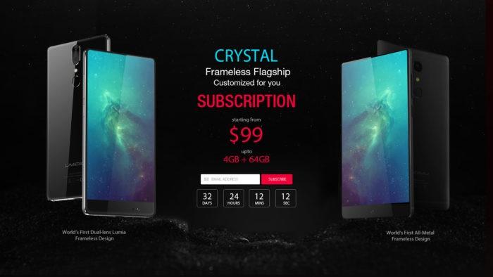 UMIDIGI Crystal: telefon bezel-less în stilul Xiaomi Mi Mix la doar 99 $ (P)