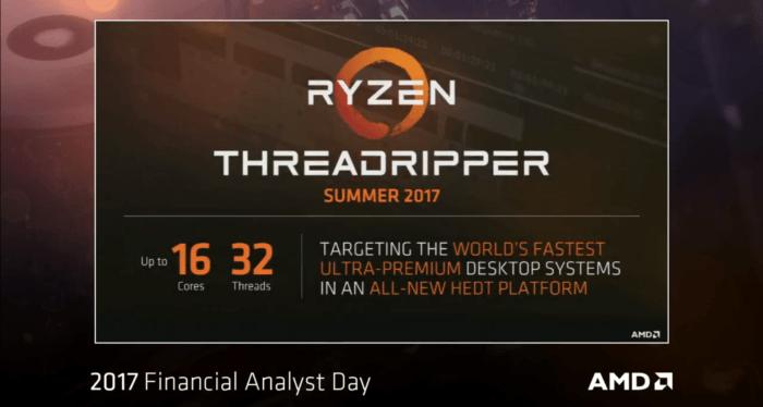 AMD Ryzen Threadripper: specificatii, pret, disponibilitate