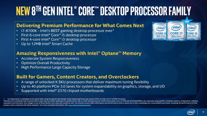 Intel a anunțat familia de procesoare Coffee Lake