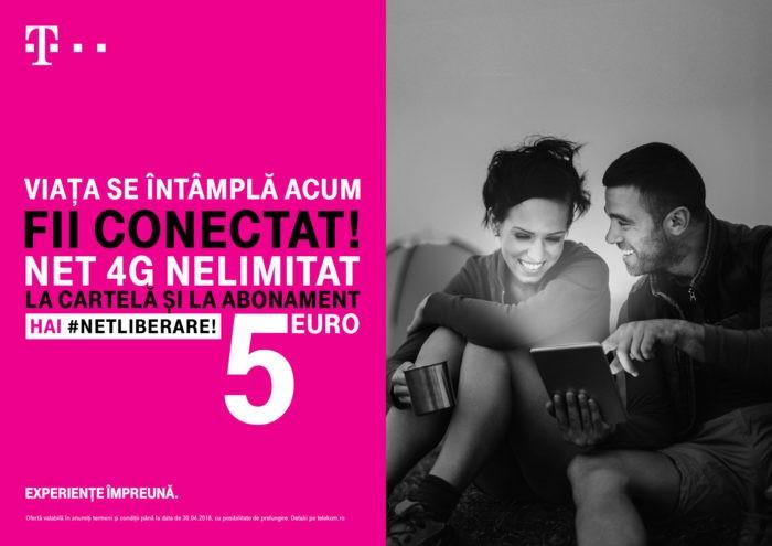 Telekom extinde oferta de trafic nelimitat 4G pentru opțiunile prepaid de 5 și 6 Euro
