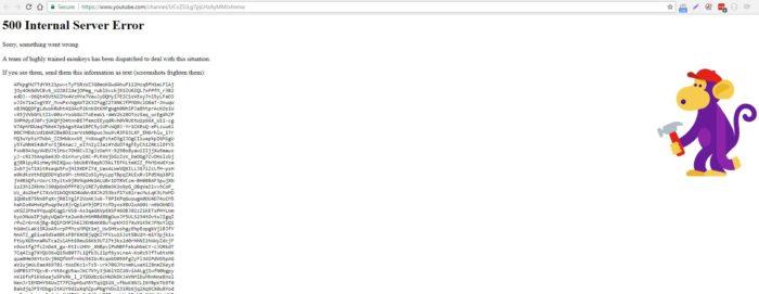 YouTube are probleme, este partial cazut