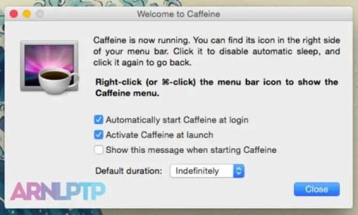 Aplikasi Caffeine pada Mac