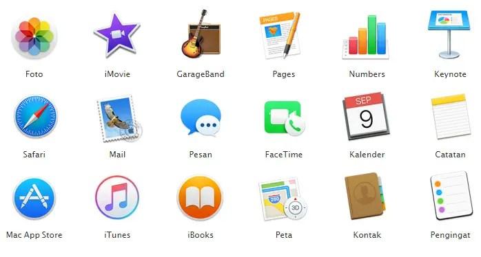 Aplikasi Bawaan MacBook