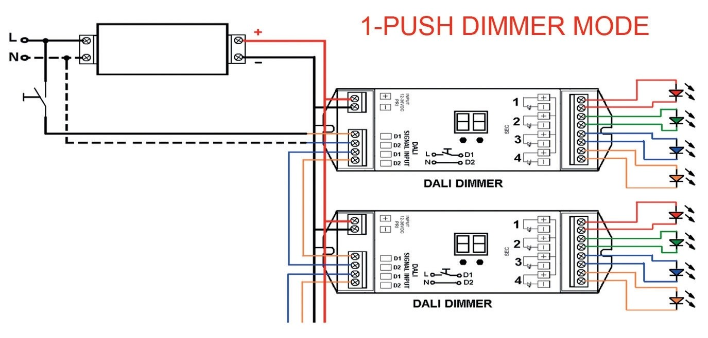 10v Dimmer Wiring Diagram Schematic Dimmer Led Dali E Push