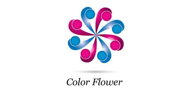 Color Wheel Flower Design