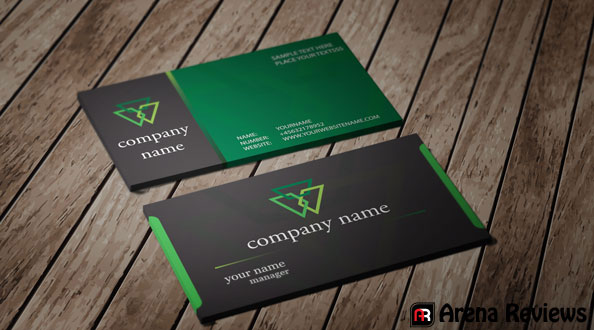 Black and green card template company card design download black and green card template reheart Gallery