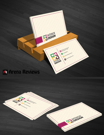 interior design business card graphic design card template