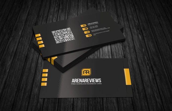 Free modern corporate black business card download modern corporate black business card template accmission