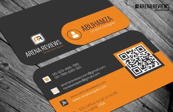 Free orange and black pattern business card template orange and black pattern business card friedricerecipe Gallery