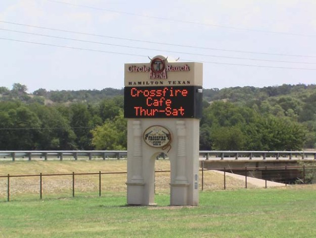 Sign at front gate