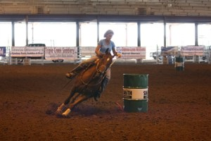 Barrel Race Event in Indoor Arena (They love our dirt!)